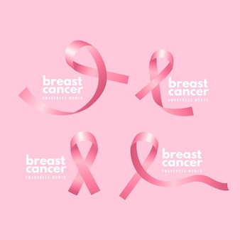 Breast cancer awareness month badges