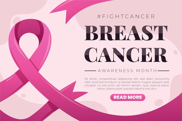 Breast cancer awareness month banner template