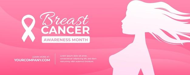 Баннер месяц осведомленности о раке груди
