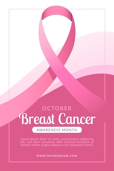 Breast cancer awareness month banner