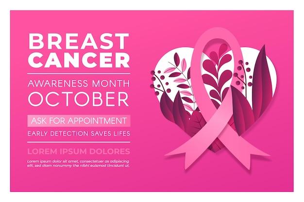 Banner di mese di consapevolezza del cancro al seno