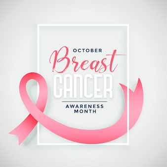 Breast cancer awareness month campaign poster