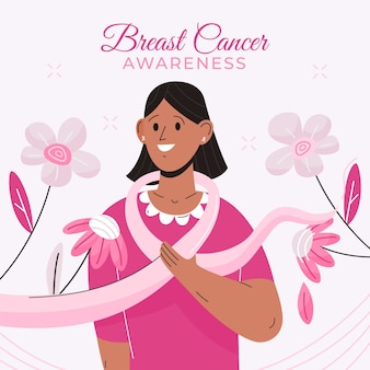 Breast cancer awareness month concept