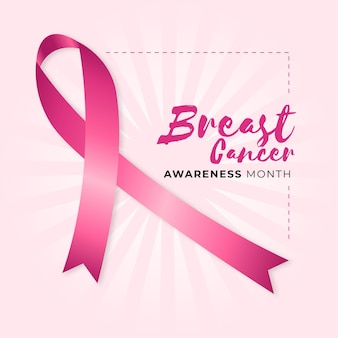 Breast cancer awareness month concept Free Vector