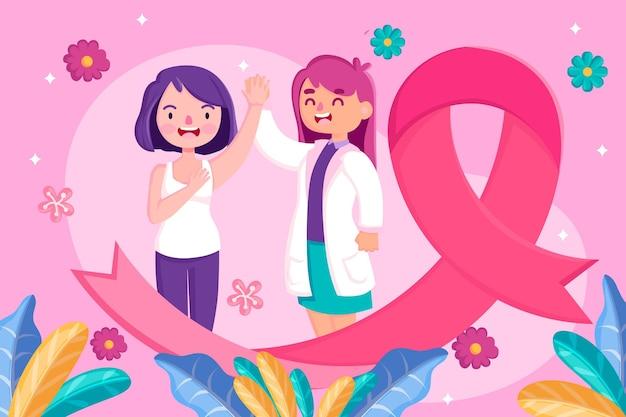Concetto di mese di consapevolezza del cancro al seno