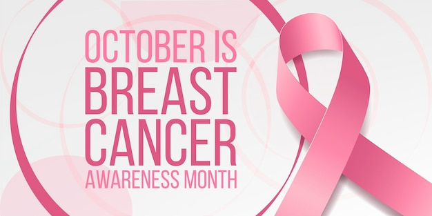 Breast cancer awareness month concept.