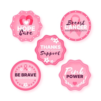 Breast cancer awareness month labels style