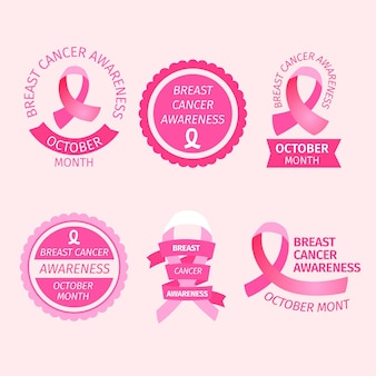Breast cancer awareness month labels