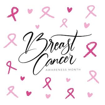 Надпись месяц осведомленности рака молочной железы