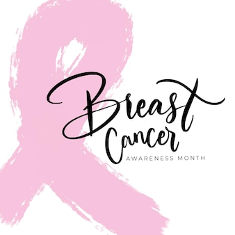 Breast cancer awareness month lettering