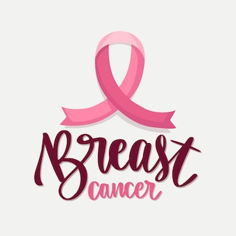 Breast cancer awareness month - lettering