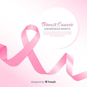 Breast cancer awareness month pink background