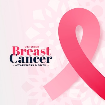 Breast cancer awareness october month poster
