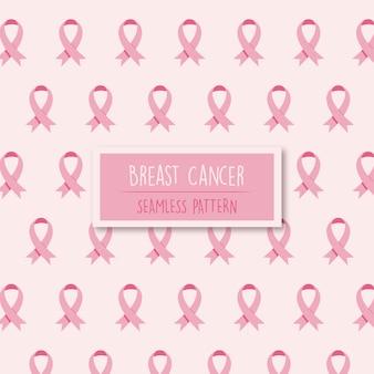 リボン付き乳がん啓発パターン