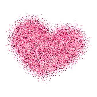 Breast cancer awareness pink glitter heart background for poster and banner template