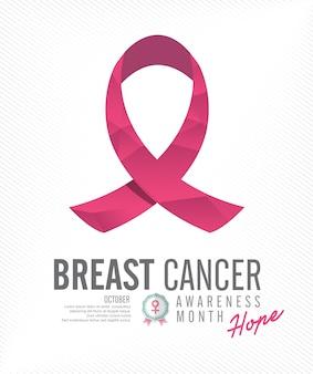 Предпосылка розовой ленты осведомленности рака груди.