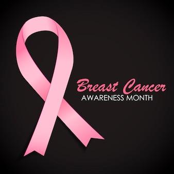 乳がんの意識ピンクリボンベクトルイラストeps10