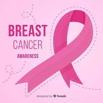 Breast cancer awareness with pink ribbon