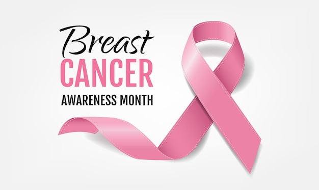 현실적인 핑크 리본으로 유방암 인식
