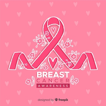 Breast cancer awareness with ribbon