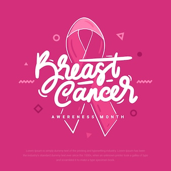 Breast cancer awereness lettering
