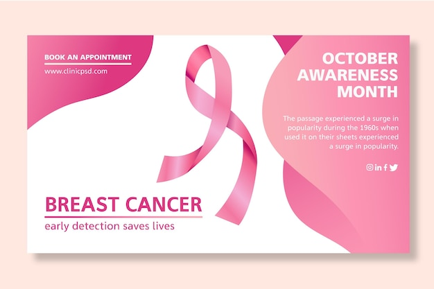 Breast cancer banner template