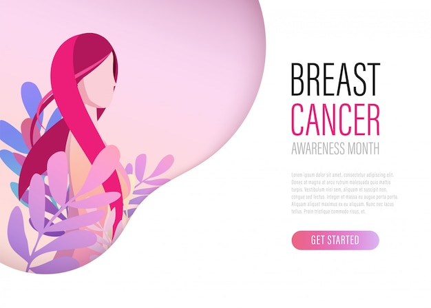 Breast cancer day ribbon international landing page.