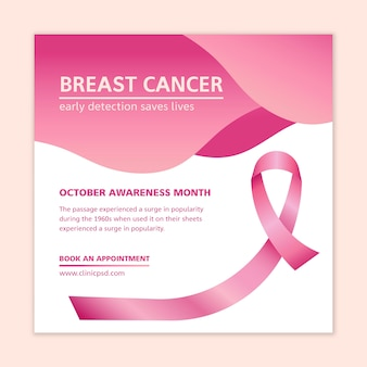 Modello di volantino del cancro al seno