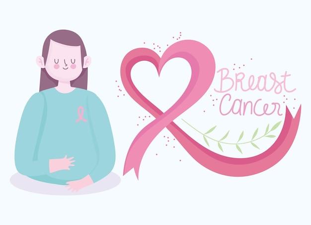Молодая женщина с раком груди