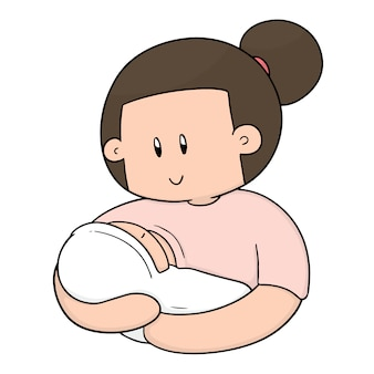 Of breast feeding mother and baby