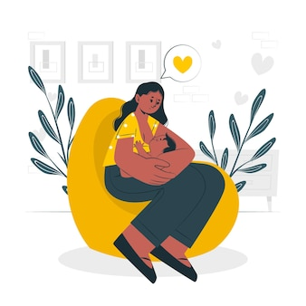 Breastfeedingconcept illustration