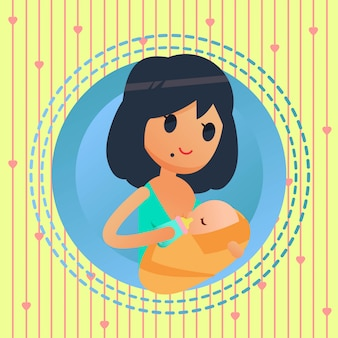 Breastfeeding technique illustration