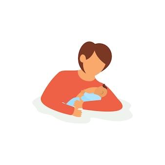 Breastfeeding technique illustration
