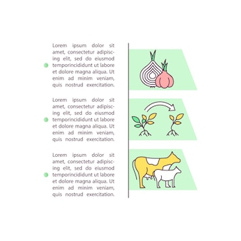 テキスト付きの育種と作物生産の概念アイコン。遺伝的に強化された選択。