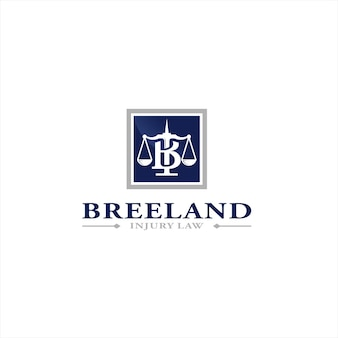 ブリーランド傷害法ロゴデザインテンプレート