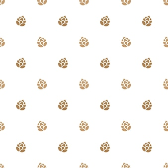 Brewery beer seamless pattern background
