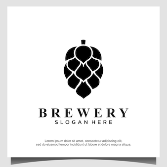 Brewery logo design concept. universal brewery design.