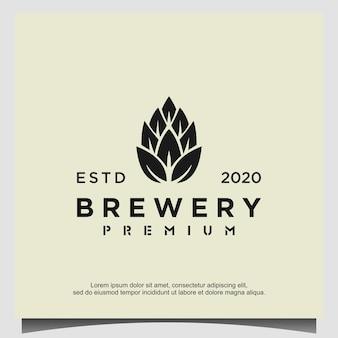 醸造所のロゴデザインテンプレートベクトル