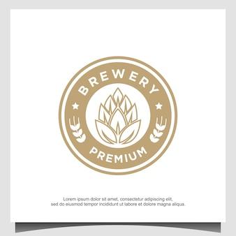 醸造所のロゴデザインユニバーサルテンプレート
