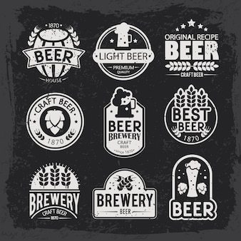 Brewery logos and emblems design.