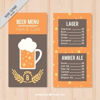 Brewery menu in minimalist style