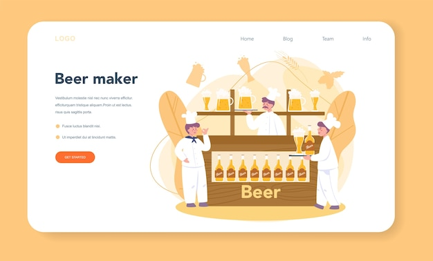 Brewery web banner or landing page
