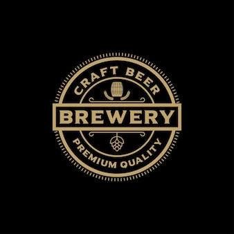 Brewing company logo. logo brewery. vintage brewery logo vector