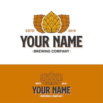 Brewing hop company logo