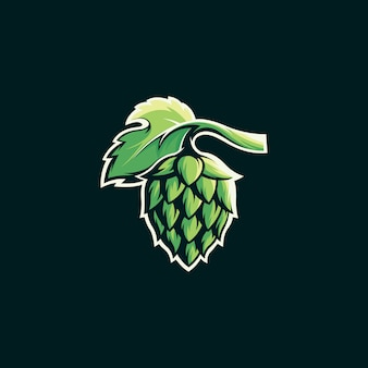 Шаблон логотипа пивоварения