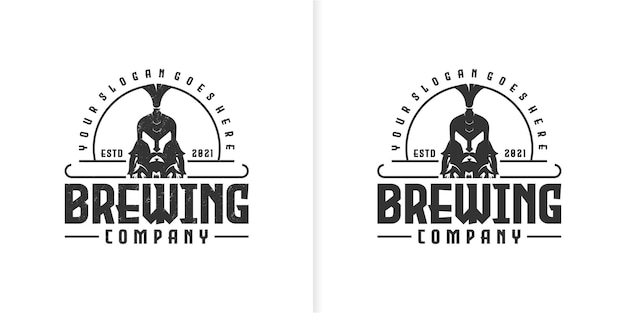 Brewing logo vintage, creative logo for reference business