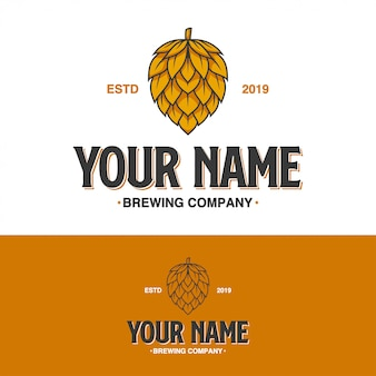 Brewing vintage company logo