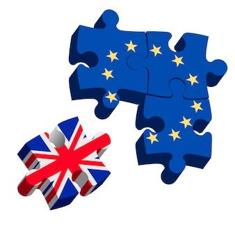 Brexitパズルピース。ベクター