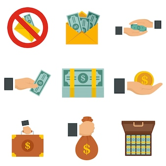 Bribery icon set