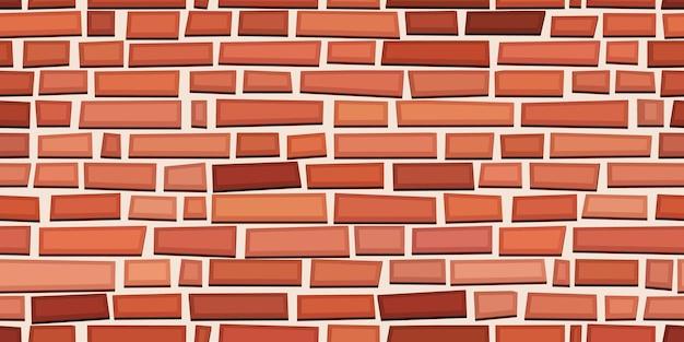 レンガレンガ赤茶色のブロックのシームレスなパターンフラットスタイルの壁のベクトル図